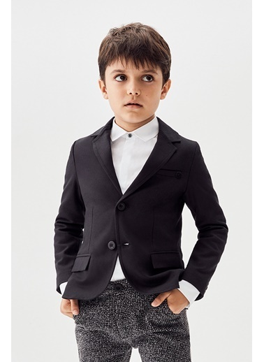 Nebbati Erkek Çocuk Siyah Ceket Siyah